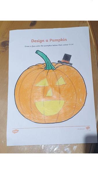 George L pumpkin design.