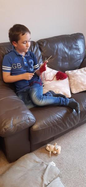 Yes Jake you can knit better than me!