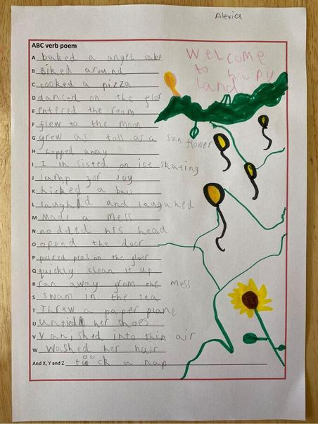 Alexia's beautifully presented ABC poem.