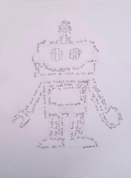Well done Harry for his lovely robot shape poem