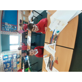 Harrison and Patryk worked together to make 2d shapes