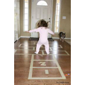 Make your own hop scotch using tape or cushions!