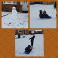 Patryk enjoying the snow with Dawid.