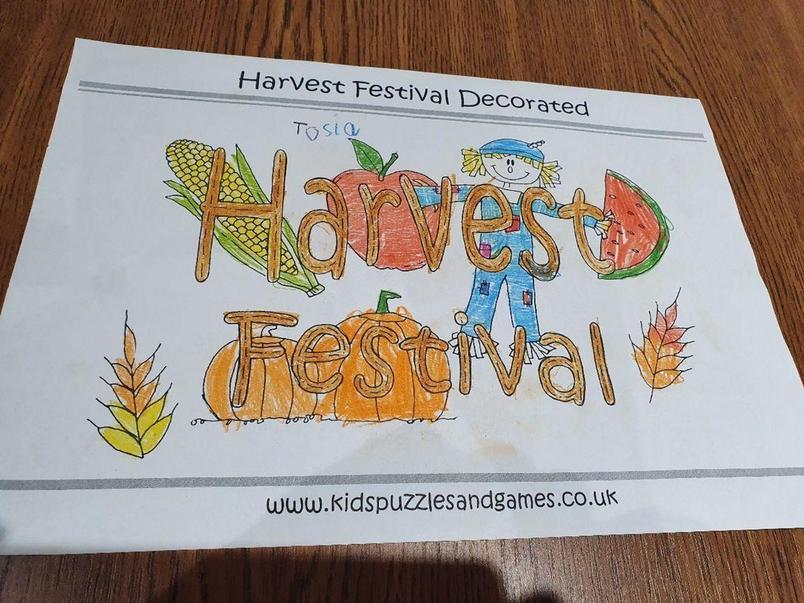 Tosia's Harvest Festival picture.