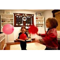 Keep a balloon in the air or play balloon tennis!
