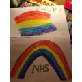Natalia's NHS banner.
