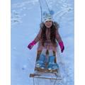 Alexia enjoying the snow.