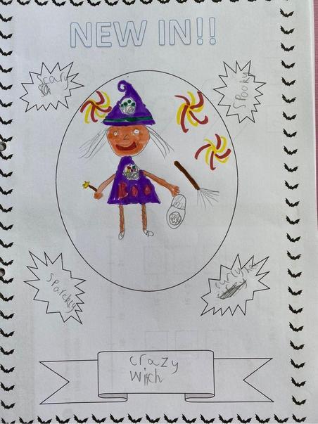 Alexia's Halloween costume advert.
