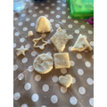George R made dough with his mum to make his shapes.