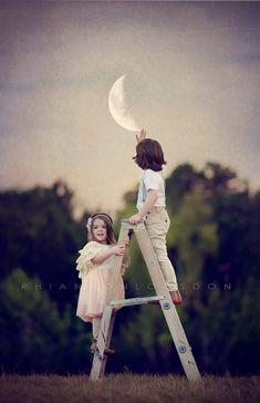 REACH FOR THE MOON IF YOU FALL SHORT YOU MIGHT FALL AMONG THE STARS!