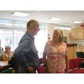 Mr Lister (Head, 2011-2018) & Mrs Barbara Cederhoe
