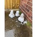 Callum's snowman family.