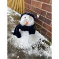 Callum's new snowman.