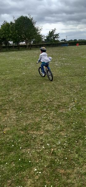 Well done for mastering the big bike Jake!