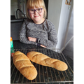 Ellie making her French baguettes!