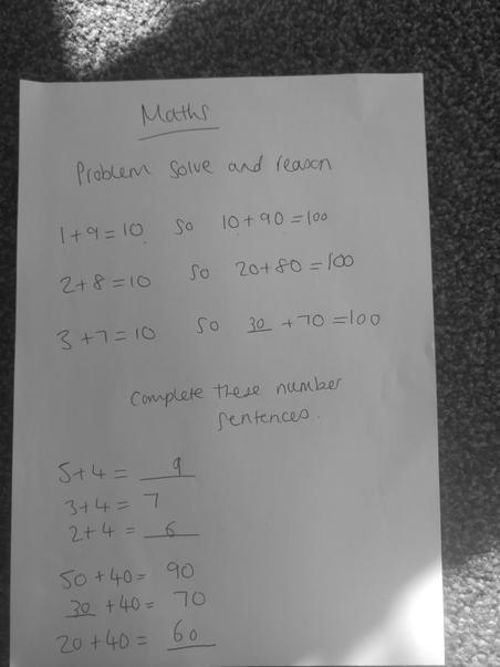 Grace's superb maths