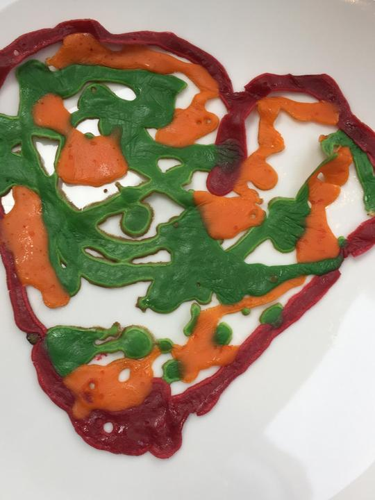 Theo's pancake art.