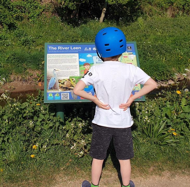 Theo's Geography Trail - on the river bank