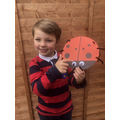 Zachary made a brilliant ladybird!