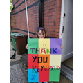 Evelyn has made a colourful poster for keyworkers!