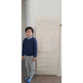Shahzad drew around and labelled his body!