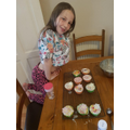 Pretty cupcakes by Jasmine!