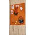 Shriya made an Easter card for her Grandma