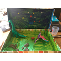 Millie's dinosaur land! WOW!