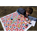 Herbie using a giant hundred square for maths!