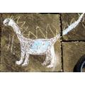 Herbi's chalk dinosaur!