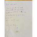 Tansy wrote me a letter