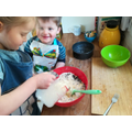 Zara has been baking with her brother