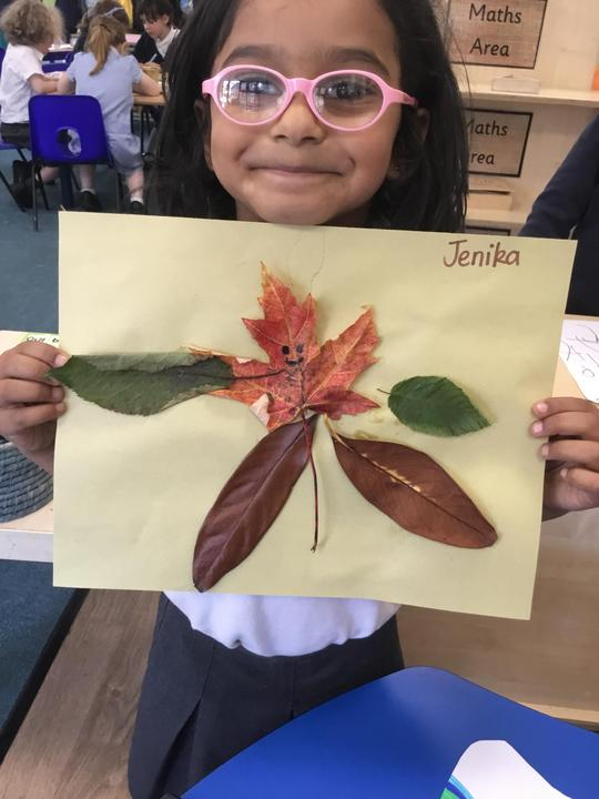 Creating our own Leaf People inspired by 'Leaf Man'