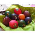 The finished eggs - beautiful!
