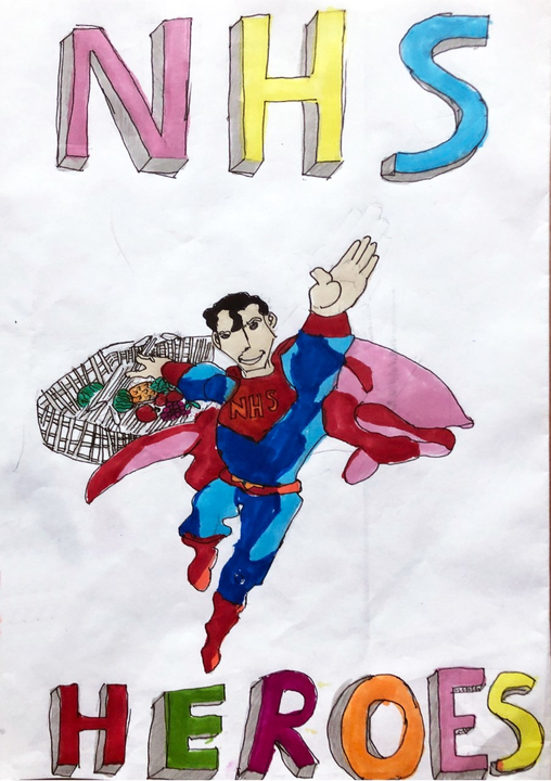 Jake's clever design - look at what Superman has.