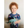 Freddie's fab dinosaur model!