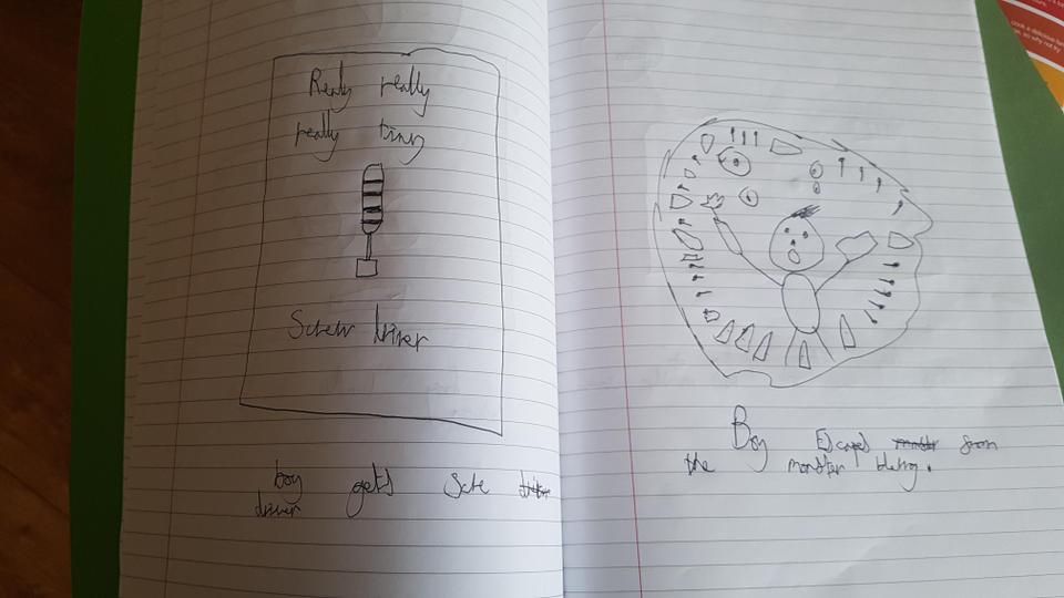 Dylan enjoyed story mapping his book
