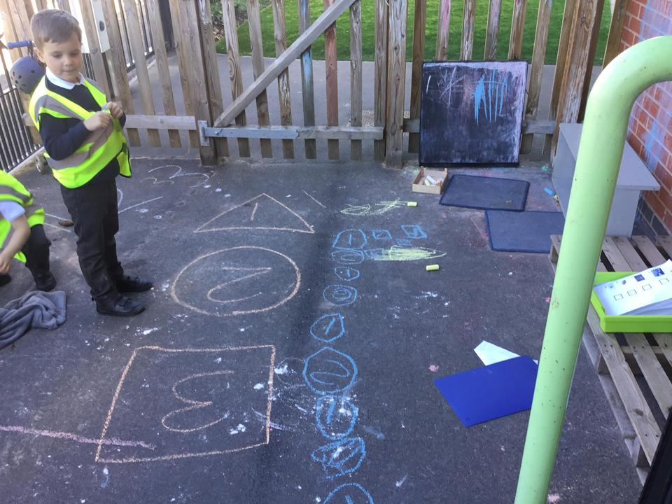 A 1 and 2 hopscotch game