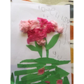 Lily made a beautiful collage of a flower