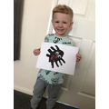 Noah's amazing spider painting!