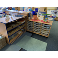 The maths area with games and activities with numbers and shapes.