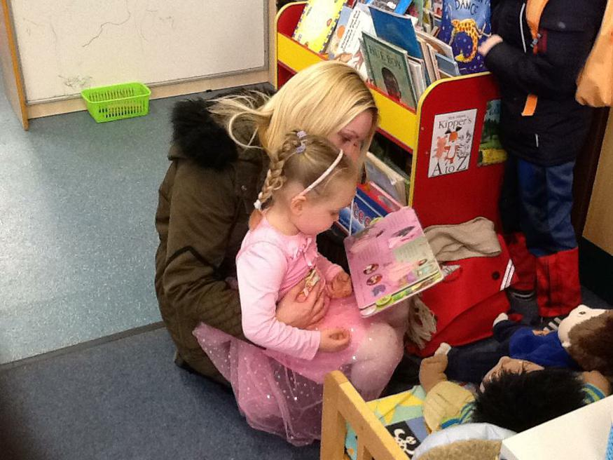 Sharing books with our parents!