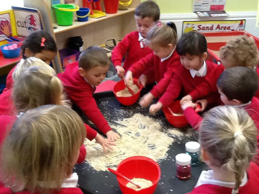 Making magic reindeer food