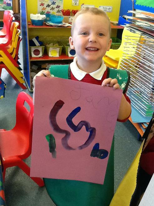 Painting numerals