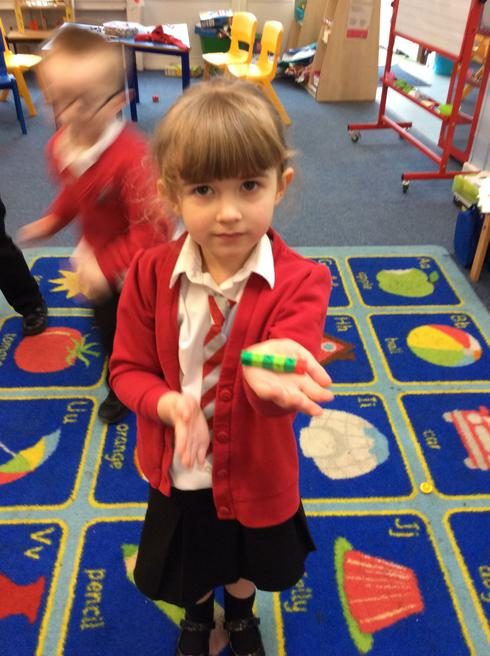 Mary made a very hungry caterpillar.