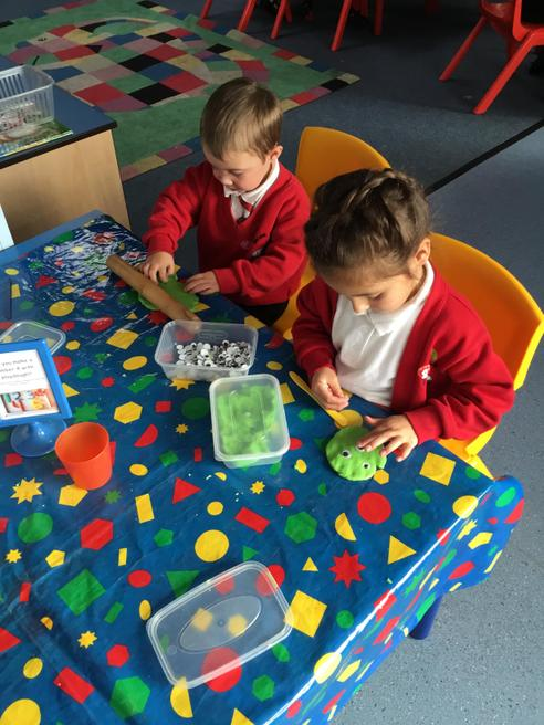 Play dough forest animals