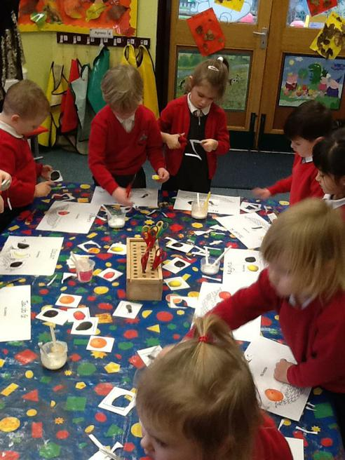 Practising our cutting skills