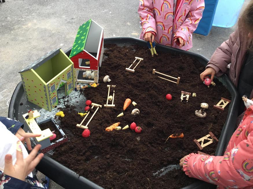Farmyard Harevest Festival, small world play