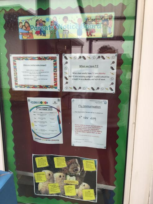 Look out for the parent notice board!