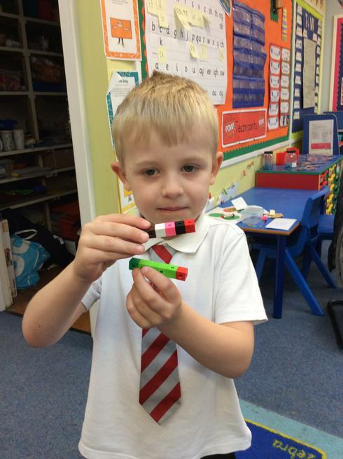 Izaak made 2 caterpillars.